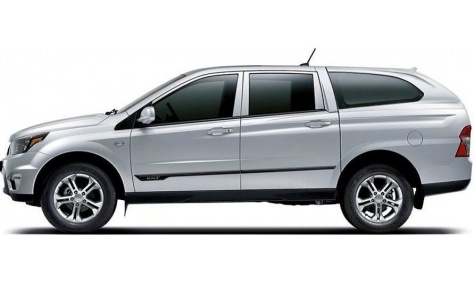 4WD Ssangyong Diesel Double Cab Utility with Canopy
